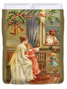 Santa's Gifts Duvet Cover by English School