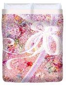 Santa's Window Duvet Cover by Rachel Christine Nowicki