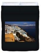 Santorini Cliff View Duvet Cover