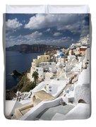 Santorini Hillside Duvet Cover