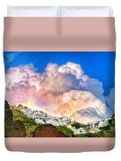 Santorini Sunrise Duvet Cover
