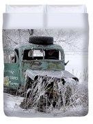 Saranac Cities Service Truck Duvet Cover