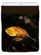 Sassafras Leaf Glowing Duvet Cover