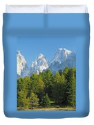 Sasso Lungo Group In The Dolomites Of Italy Duvet Cover