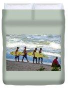 Satelite Beach Duvet Cover