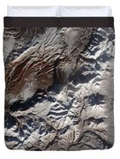 Satellite Image Of Russias Kizimen Duvet Cover