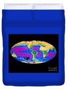 Satellite Image Of The Earths Biosphere Duvet Cover