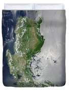 Satellite Image Of The Northern Duvet Cover