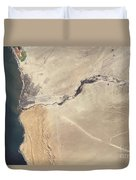Satellite Image Of The Swakop River Duvet Cover