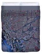Satellite View Of Buffalo, New York Duvet Cover