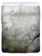 Satellite View Of Eastern Canada Duvet Cover