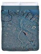 Satellite View Of Newark, New Jersey Duvet Cover