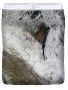Satellite View Of Snow And Cold Duvet Cover