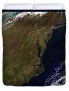Satellite View Of The Mid-atlantic Duvet Cover