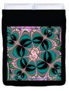 Satin Flowers And Butterflies Fractal 122 Duvet Cover
