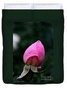 Satin Rosebud Duvet Cover
