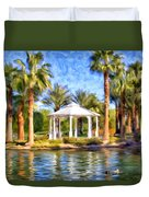 Saturday In The Park Duvet Cover