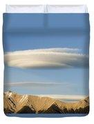 Saucer-shaped Cloud, Kootenay Plains Duvet Cover