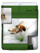 Save The Bees Save The World Duvet Cover