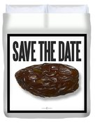 Save The Date Duvet Cover