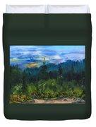 Sawbill Overlook Sunset Duvet Cover