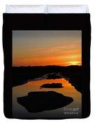 Scarborough Marsh Sunset 1 Duvet Cover