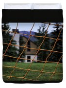 Scene Through A Volley Ball Court 2 Duvet Cover
