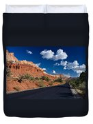 Scenic Drive Through Capitol Reef National Park Duvet Cover