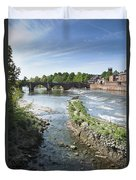 Scenic Landscape With Old Dee Bridge Duvet Cover