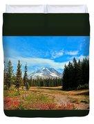Scenic Mt. Hood In Oregon Duvet Cover