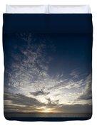 Scenic Sunset Over Malapascua Island Duvet Cover
