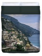 Scenic View Of The Beach And Hillside Duvet Cover