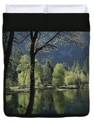 Scenic View Of The Merced River Duvet Cover