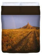 Scenic View Of Western Nebraska Duvet Cover
