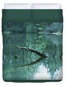 Scenic Woodland Lake Duvet Cover