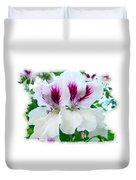 Scented Geraniums 2 Duvet Cover