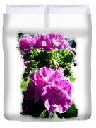 Scented Geraniums Duvet Cover