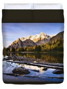 Schaffer Lake And Mount Huber Duvet Cover