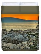 Schoodic Sunset Duvet Cover