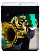 School Band Horn Duvet Cover