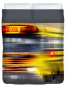 School Bus Rush Duvet Cover