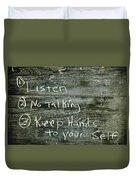 School House Chalkboard Duvet Cover
