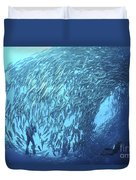 School Of Jacks And Divers At Liberty Duvet Cover