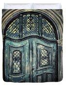 Schoolhouse Entrance Duvet Cover by Jutta Maria Pusl