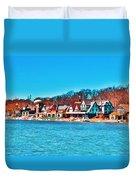 Schuylkill Navy Boat House Row Duvet Cover