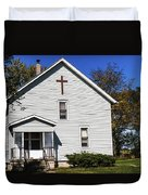Sciola Baptist Church 1864 Duvet Cover