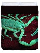 Scorpion Glows In Uv Light Costa Rica Duvet Cover
