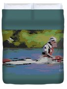 Sculling For The Win Duvet Cover