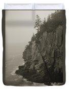 Sea Cliff At Quoddy Head  Duvet Cover