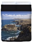 Sea Cliffs And Coastline Near Erris Duvet Cover